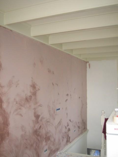 net geschilderd kalk verf muur in de woonkamer · albumelement