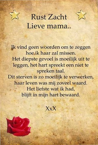 Nieuw gedicht voor mama omdat ik haar super veel mis · albumelement OV-25