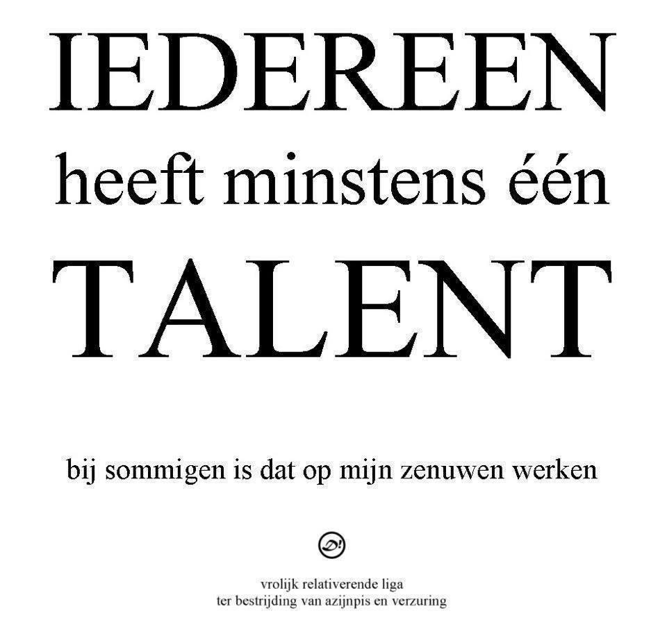 Citaten Over Talent : Je werkt me op mn · albumelement