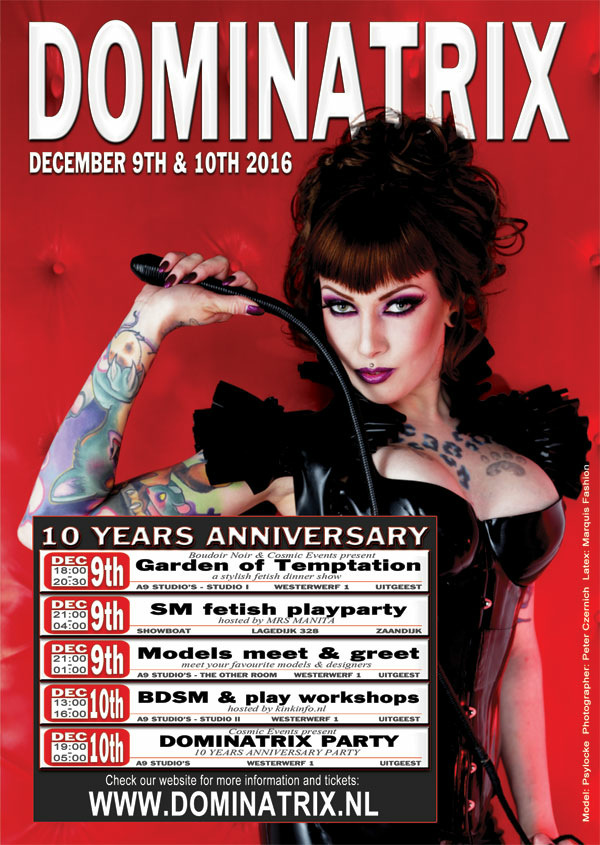 dominatrix weekend 9 & 10 december 2016